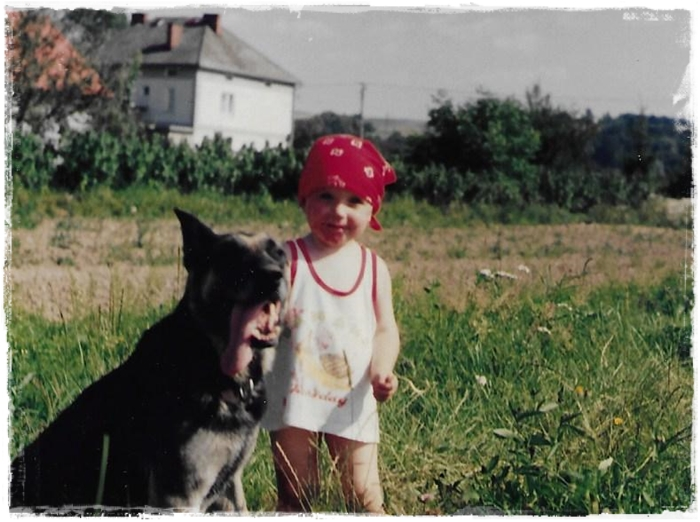 Me and Dora in 1995. She was a German Shepherd from police kennel.
